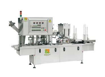 Boxed Japanese Tofu Filling & Sealing Machine - Automatic Boxed Silken Tofu Filling & Sealing Machine