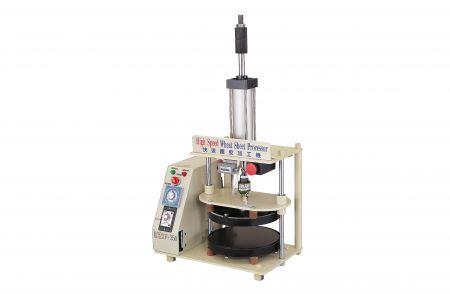 Procesador de hojas de trigo de alta velocidad - Procesador de hojas de trigo de alta velocidad (F-250), su tamaño de platina es de 250 mm. Esta máquina se utiliza para tortilla china, láminas de pato asado, pizzas y pizza china.