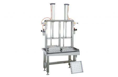 Double Presser of Tofu Pressing Machine - Double Presser of Tofu Pressing Machine is available to run with one operator only, you can easily estimate the output capacity, suitable for supermarket or for new business.