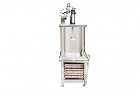 Prensa simple de la máquina de prensado de tofu - El prensador individual de la máquina de prensado de tofu está disponible para funcionar con un solo operador, puede estimar fácilmente la capacidad de salida, adecuada para supermercados o para nuevos negocios.