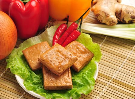 Pinausukang Tofu
