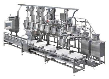 Машина за пълнене на мухъл и коагулация - Автоматично пълнене на соево мляко за плесен и коагулираща конвейерна машина, машина за извара, машина за коагулация