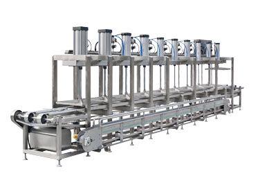 Continuous Tofu Pressing Machine - Automatic Continuous Tofu Molds Pressing Machine
