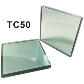 Kaca Laminasi Bangunan Hijau TC50 - Kaca Laminated Green Building dibentuk sebagai sandwich dari 2 lembar kaca