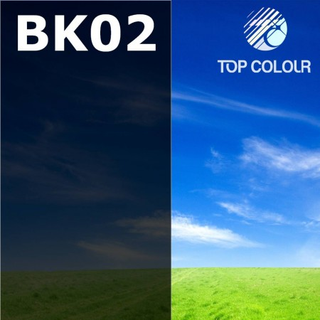 Tinted Window Privacy Film BLACK 2% - Tinted sun control film BK02