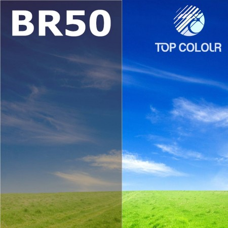 Glue tinted window film BROWN 50% - Tinted sun control film BR50