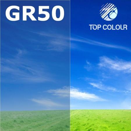 Glue tinted window film GREY 55% - Tinted sun control film GR50