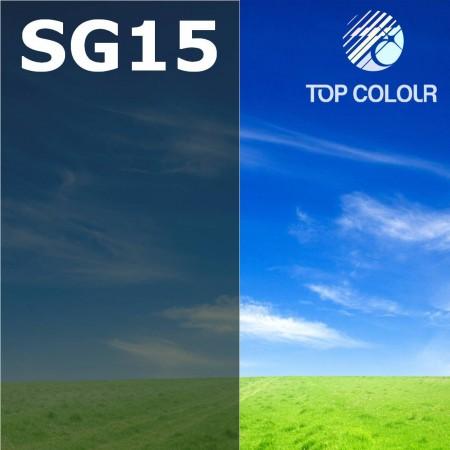 Glue tinted window film SLATE GREEN 14%