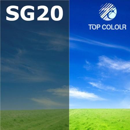 Glue tinted window film SLATE GREEN 18%
