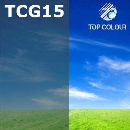 فیلم پنجره رنگی چسب TOP CHARCOAL GREEN 13٪