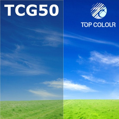 فیلم پنجره رنگی چسب TOP CHARCOAL GREEN 57٪
