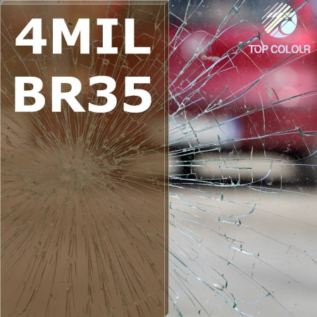 Safety window film SRCBR35-4MIL