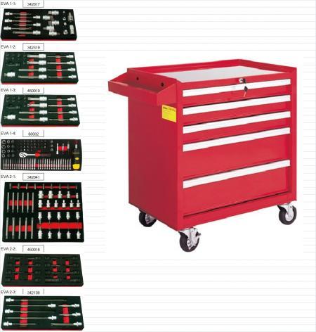 193pcs 5-drawer tool Trolley Set