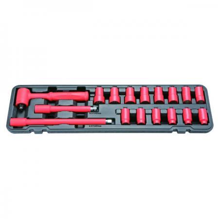 """17pcs 1000V Insulated 1/2""""Dr. Socket Set - 17pcs 1000V Insulated 1/2""""Dr. Socket Set"""