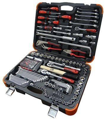 """142pcs 1/4""""+3/8""""+1/2"""" Dr. Socket & Tools Set"""