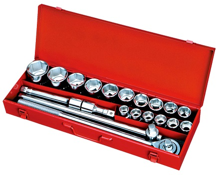 "21pcs 3/4"" Dr. 12pt. Socket Wrench Set-Inch Size"