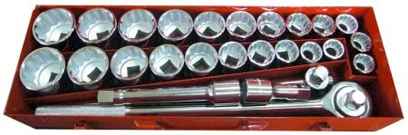 "27pcs 3/4"" Dr. 12pt. Socket Wrench Set"