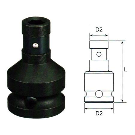 "3/8"" Dr. Impact Bit Holder Socket"