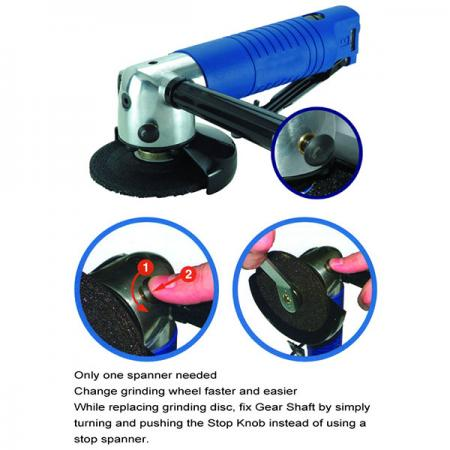 """4-1/2"""" Angle Grinder (12,000RPM) - 4-1/2"""" Air Angle Grinder"""