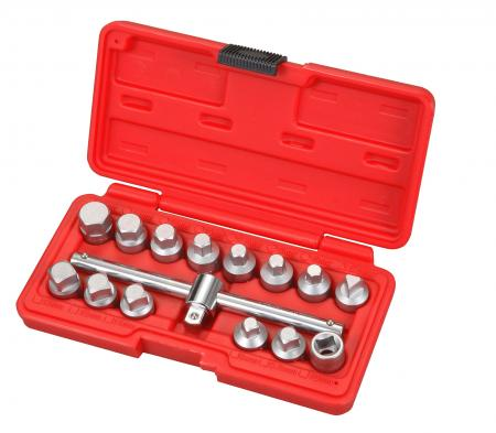 "15pcs 3/8""Dr. Drain Nut Set - 15pcs 3/8""Dr. Drain Nut Set"