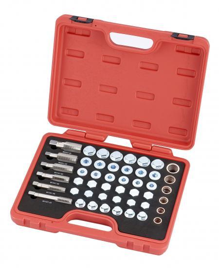 114pcs Drain Plug Repair Set, Copper Washers - 114pcs Drain Plug Repair Set