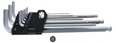 9pcs Hex Ball Key Set Extra Long Type