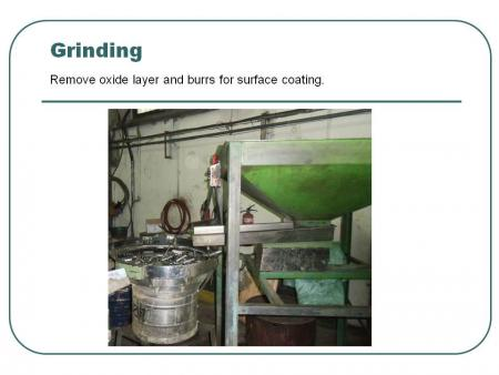 Grinding: Remove oxide layer and burrs for surface coating.