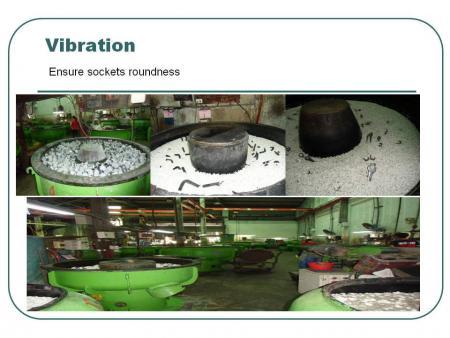 Vibration: Ensure sockets roundness.