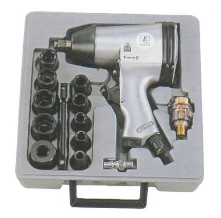 "1/2"" Air Impact Wrench Kit (Rocking Dog Type)"