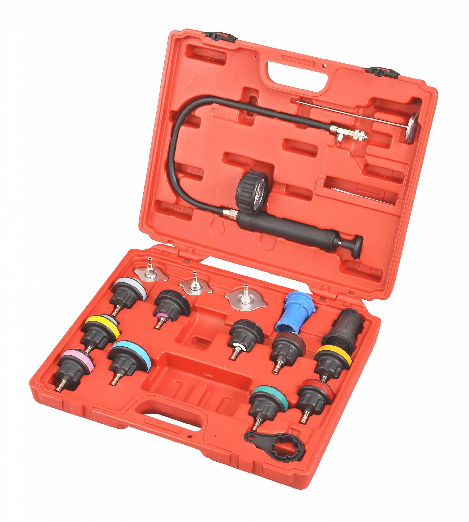 Universal Radiator Pressure Test Kit 18pcs Supply