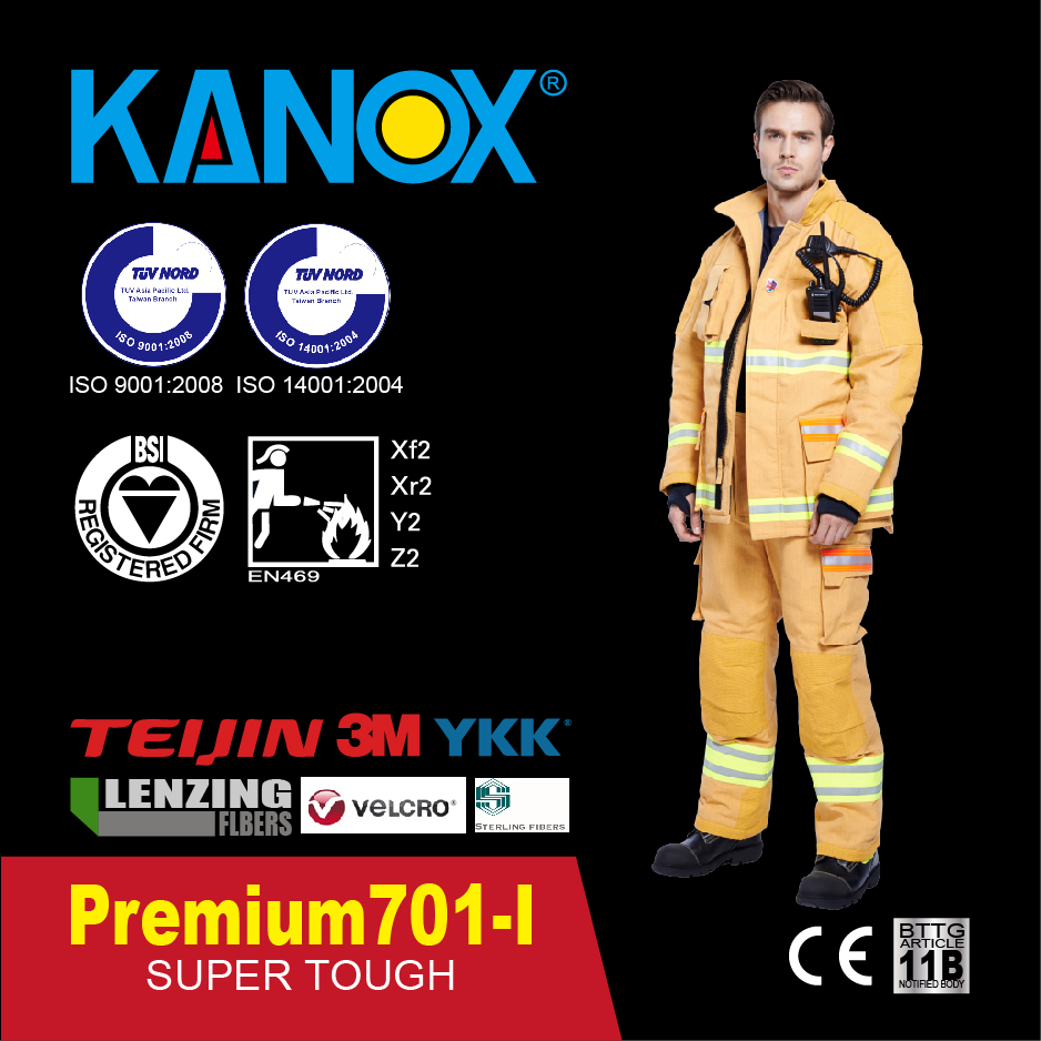 Премиум 701 RFID Умный противопожарный костюм, EN469 Уровень 2