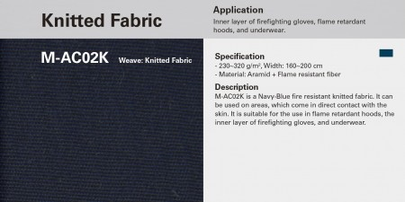 Knitted Fire Resistant Fabric