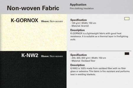 Non-Woven Fire Resistant Fabric