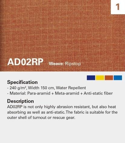 KANOX AD02RP Ripstop, resistente al fuego, alta resistencia al desgarro