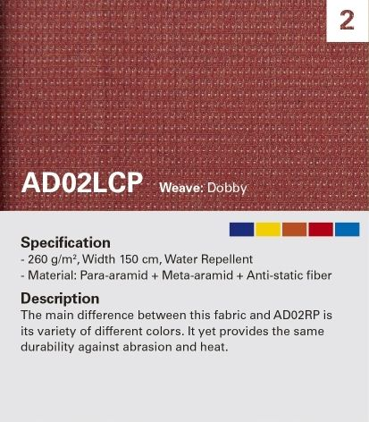 KANOX AD02LCP gran resistencia a la abrasión y diseño de color