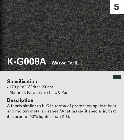 KANOX G008A Oxidize fiber blended, resist to flame and heat