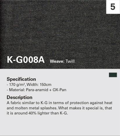 KANOX G008A Oxidar la fibra mezclada, resistir las llamas y el calor