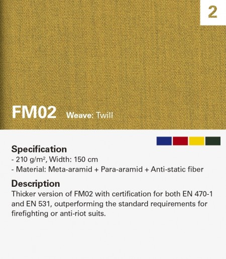 MAZIC FM02 Fire Resistant for heavy duty clothing