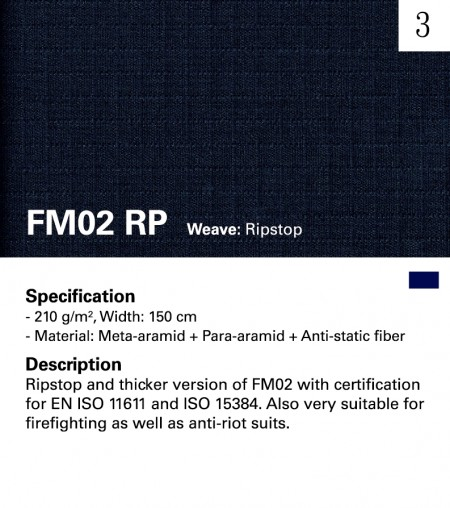 MAZIC FM02RP Fire Resistant Woven Ripstop Fabric