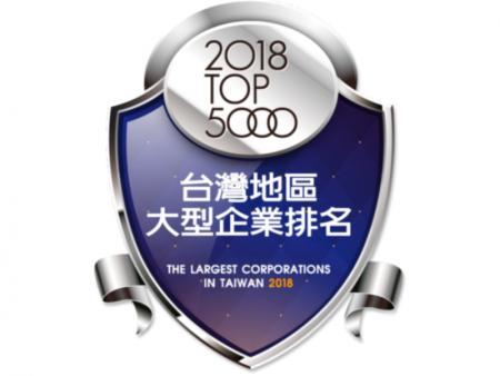 中華徵信所「2018年版灣地區大型企業排名TOP5000網路獎章