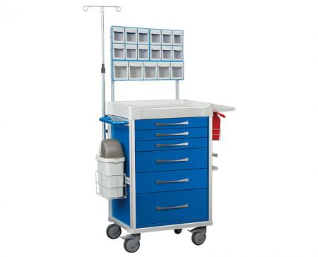 Anesthesia Carts - Spacious and organizing cart to securely store controlled drugs and medical tools.