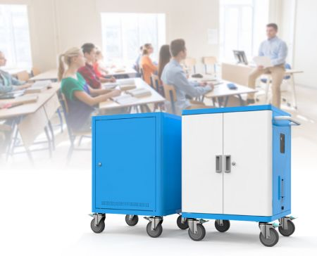 Charging Cart & Cabinet for Office Use - Unique and user friendly charging carts design.