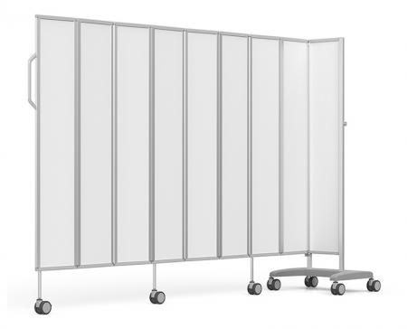 Folding Mobile Screens - Indispensable equipment to provide privacy for patients in every medical practice, clinic or hospitals.