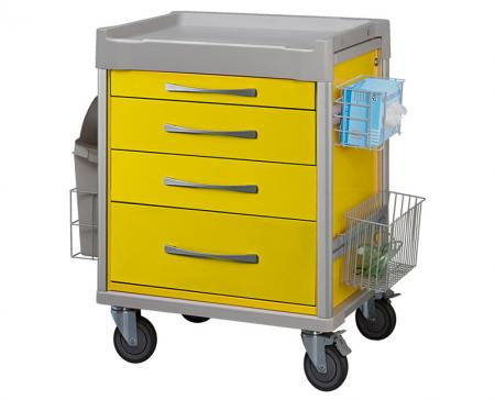 Isolation Carts - Streamline design and spacious drawers for accommodating bulky medical gowns or consumable supplies.