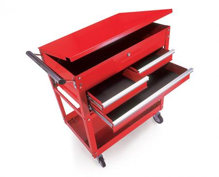 Service Cart - Service Cart with top lid and drawers.