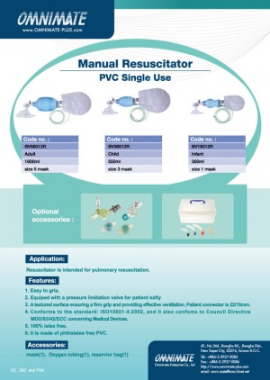 Manual Resuscitator (PVC Single Use)