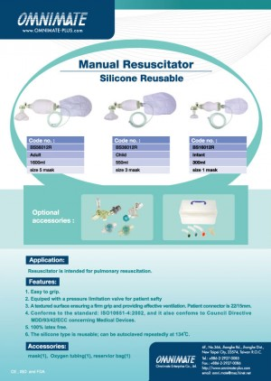 Manual Resuscitator (Silicone Reusable)