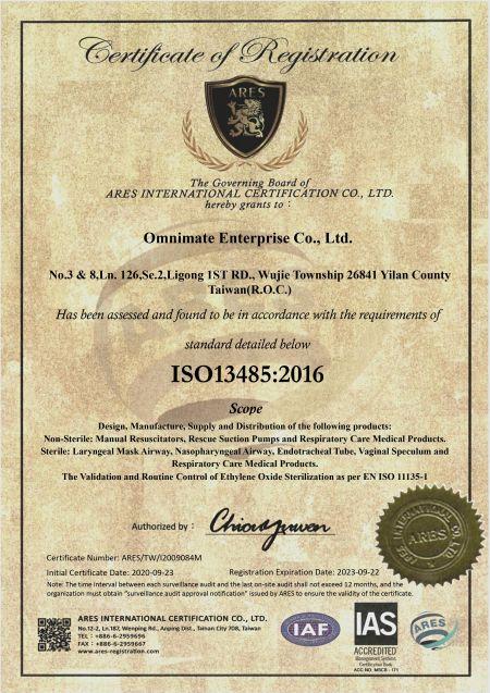 Certificado ISO (ENG)