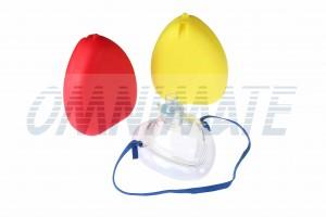 Faltbare Maske + O2-Ventil - Erwachsene / Kinder + Koffer