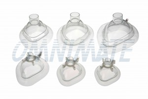 Anesthesia Mask - Transpatent to allow visual checks for bleeding and vomiting.